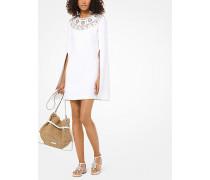 Besticktes Cape-Kleid aus Doubleface-Sable-Crêpe