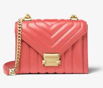 MK Wandelbare Schultertasche Whitney Small Aus Gestepptem Leder - Pink Grapefruit(Rosa) - Michael Kors