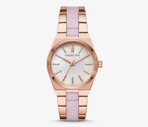 Armbanduhr Channing im Rose-Goldton mit Azetatarmband