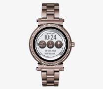 Smartwatch Sofie im Zobelton mit Pave-Fassung