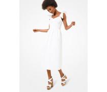 Kleid Aus Baumwoll-Popeline Mit Rüschensaum