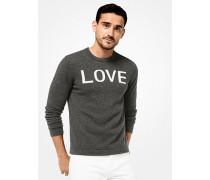 Pullover aus Kaschmir mit Love-Schriftzug