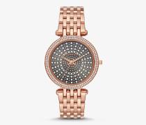 Armbanduhr Darci im Rose-Goldton mit Himmelskörper-Design und Pave-Fassung