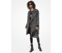 Cocoon-Mantel aus Jacquard mit Leopardenmuster