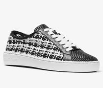 Sneaker Olivia aus Textil  mit Metallic-Effekt