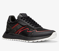 MK Sneaker Miles Aus Materialmix - Schwarz(Schwarz) - Michael Kors