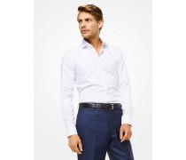 Slim-Fit-Hemd aus Baumwolle mit Pünktchenmuster
