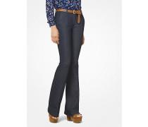 Jeans mit Schlag und Bügelfalte