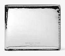 Schmale Brieftasche Harrison in Metallic-Optik