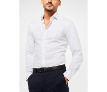 Tailored-/classic-Fit-Hemd aus Baumwolle mit Pünktchenmuster