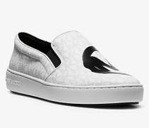 MK Slip-On-Sneaker Keaton Mit Logomuster - Weiss(Weiss) - Michael Kors