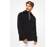 Sweater aus Baumwolle mit Viertelreißverschluss