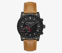 Hybrid-Smartwatch Scout in Schwarz mit Lederarmband