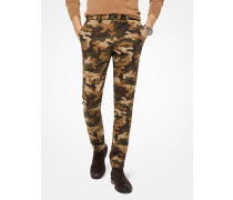 Slim-Fit-Chino aus Baumwoll-Twill mit Camouflagemuster