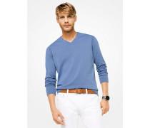 Pullover aus Baumwolle mit V-Ausschnitt