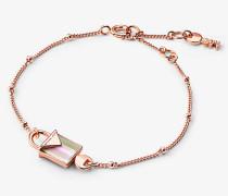 Armband aus Sterlingsilber mit 14-Karätiger Rose-Goldbeschichtung und Schloss