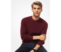 Gerippter Pullover aus Baumwollmischgewebe