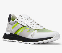 MK Sneaker Miles Aus Materialmix - Optic White(Weiss) - Michael Kors