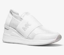 Sneaker Felix aus Mesh In Metallic-Optik
