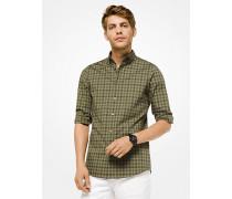Slim-Fit-Hemd aus Stretch-Baumwolle mit Vichykaro