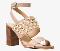 Sandale Valencia aus Leder mit Nietenbesatz