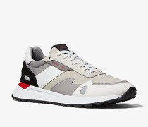 MK Sneaker Miles Aus Segeltuch Und Leder - Hellbeige(Natürlich) - Michael Kors