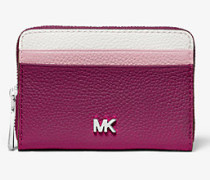 Brieftasche Mercer Small aus Gekrispeltem Leder in Blockfarben