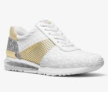 MK Sneaker Allie Extreme Aus Materialmix - Weiss/blassgoldton(Weiss) - Michael Kors