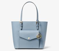 MK Shopper Jet Set Medium Aus Saffianleder Mit Aufgesetzter Tasche - Blassblau(Blau) - Michael Kors