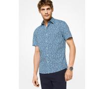 Slim-Fit-Hemd aus Stretch-Baumwolle mit Pflanzenmuster