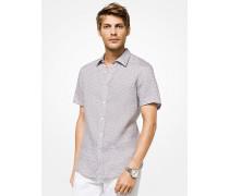 Tailored-/classic-Fit-Hemd aus Leinen mit Geometrischem Muster