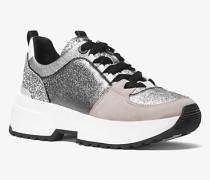 Sneaker Cosmo in Metallic-Optik mit Glitzer
