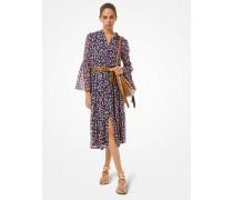Kleid Aus Georgette Mit Blumenmuster