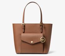 MK Shopper Jet Set Medium Aus Saffianleder Mit Aufgesetzter Tasche - Luggage(Braun) - Michael Kors