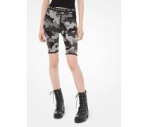 Bike-Shorts aus Jacquard mit Camouflagemuster