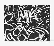 Brieftasche Jet Set im Graffiti-Stil
