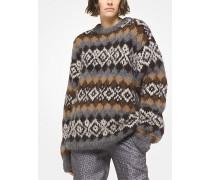 Handgestrickter Pullover aus Alpakawollgemisch mit Fair-Isle-Muster