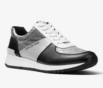 Sneaker Allie aus Materialmix in Metallic-Optik mit Logo