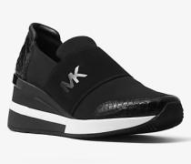 Sneaker Felix aus Neopren und Geprägtem Leder