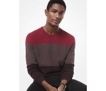 Gestreifter Sweater aus Viskosemischgewebe