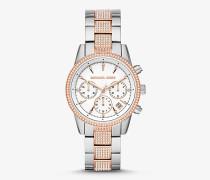 Zweifarbige Armbanduhr Ritz mit Pave-Fassung