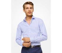 Gestreiftes Slim-Fit-Hemd aus Baumwolle