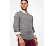 Pullover aus Merinowolle mit V-Ausschnitt