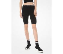 Bike-Shorts aus Stretch-Viskose