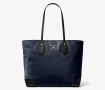 MK Shopper Eva Large Aus Nylon-Gabardine - Navyblau Multi(Blau) - Michael Kors
