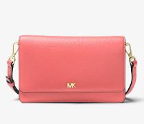 MK Wandelbare Umhängetasche Aus Gekrispeltem Leder - Pink Grapefruit(Rosa) - Michael Kors
