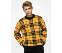 Karierter Pullover aus Alpakawollgemisch