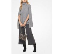 Gerippter Pullover aus Wollgemisch mit Geschlitzten Ärmeln