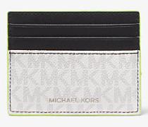 MK Kartenetui Greyson Tall Mit Logo - Wht/neon Yel - Michael Kors
