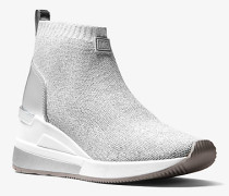 Hi-Top-Sneaker Skyler aus Textil in Metallic-Optik